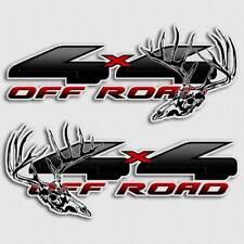 Black 4x4 Hunting Deer Skull Truck Decal Sticker Set for Ford F-150 Carbon Fiber
