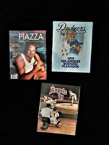 3  L.A. Dodgers and Angels magazines.'76 yearbook Lasorda,  Piazza,  '91 Angeles