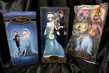 Disney Fairytale Designer Frozen Queen Elsa & Hans Doll LIMITED ED NEW + GiftBag