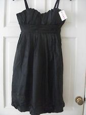 ladies black strapy party  dress   size 10  BNWT  *Free Postage*