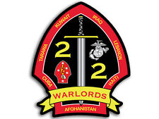 3x4 in 2nd Bn Marine Warlords Sticker -decal marines usmc military battalion 2