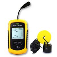 100M Portable Fish Finder Fishfinder Sonar Sensor Depth Echo Transducer Alarm