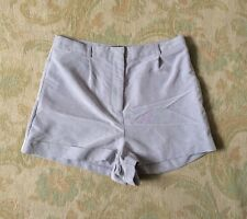 TOPSHOP Grey Lilac High Waisted Shorts - Size 10