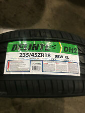 1 New 235 45 18 Delinte DH2 Tire