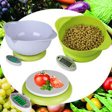 Useful 5Kg/1g Kitchen Food Diet Balance Weight Weighting LCD Scale Tray Green