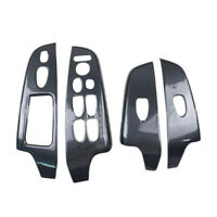 Carbon Fiber Style Inner Window Lift Switch Panel Cover Trim Fit For Honda Civic