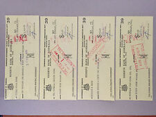 OLD RESERVE BANK OF AUSTRALIA CHEQUE 4 DECIMAL CHANGE OVER CONS NO. 71-72-73-74