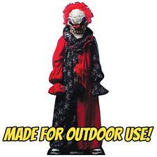 CREEPY KILLER CLOWN Plastic OUTDOOR YARD DECOR Standee Standup Psycho Prop F/S