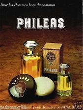 Publicité advertising 1986 Eau de Toilette Homme Phileas de Nina Ricci