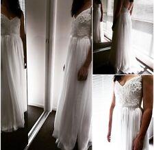 Wedding Dress -Vasiliki Couture - Size 10/S- A-Line Designer Lace Appliqué