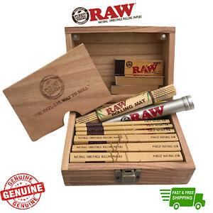 RAW Wood Rolling Stash Box Gift Set with RAW Accessories Classic Storage Box