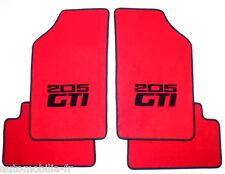 Peugeot 205 GTI 1.6 + 1.9 TAPIS DE SOL ROUGE - NOIR VELOURS