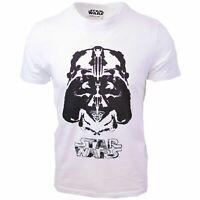 Star Wars Men's Darth Vader White S/S T-Shirt