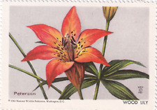 1961 National Wildlife Federation Conservation Stamp Wood Lily MNH