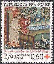 France 1994 Red Cross/Medical/Health/Tapestry/Art/Sewing/Craft/Saint 1v (n43635)