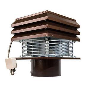 Rauchsauger Schornsteinaufsatz Schornstein ventilator Runder Kamin 25 cm 250 mm