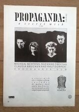 PROPAGANDA 'Secret Wish' UK magazine ADVERT/Poster/clipping 11x8 inches