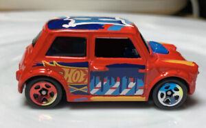 Hot Wheels Art Cars Morris Mini Red 1/64 Diecast Loose