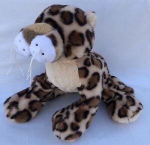"Ganz Spotted Leopard Small Soft Plush 9"" Stuffed Animal No Code"