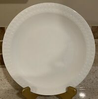 "One White Tulip Embossed 10 1/2"" Dinner Plate Centura by Corning"
