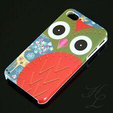 Apple iPhone 4 4S Hard Case Schutz Hülle Etui Cover Tour Rot Eule