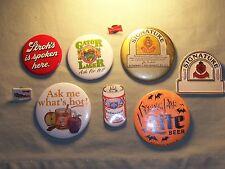 Vintage Beer Button Pinback lot Gator Lager, Miller Lite, Stroh, Budweiser
