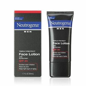 Neutrogena Men Triple Protect Face Lotion SPF 20 1.7 oz