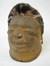 GothamGallery Fine African Art - Tanzania Makonde Lipico Tribal Helmet Mask Y