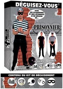 Déguisement Homme Kit PRISONNIER Costume Adulte Cinéma NEUF Pas cher
