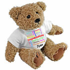 Personalised Gift - Congratulations Teddy Bear - Well Done Special Celebrations