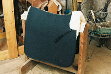 Dressage Black Saddle  Blanket w Pommel Roll Sheepskin Partial English Tack Pad