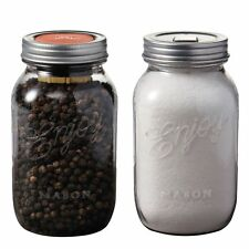 Chef'n Mason Jar Pepper Grinder & Salt Shaker Set