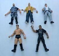 5 x WWE Titan Tron 1999 Jakks Pacific Wrestling Action Figures Bundle - The Rock