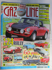 "GAZOLINE N° 234 / FIAT 124 ABARTH/JIDE 1600 ""HUMEAU""/PEUGEOT 201 COUPE/EDEN ROC"