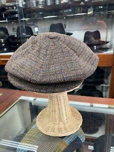 Borsalino Brown Mohair  Newsboy Cap Made In Italy Size M