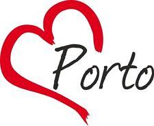 """Auto Aufkleber """" PORTO """" Sticker Stadt Portugal ca.9x11cm konturgeschnitten"""