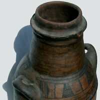 a large old antique clay terracotta north african pot morocco #5