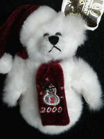 Unipak Aunt Ginnies Snowman Teddy Bear 6in Plush 2000 Collection hang tag