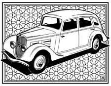Coloring Page - Retro Car # 12 (Hi-Res JPG file will be sent by email)