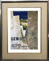 RENE GENIS (1922-2004) AFFICHE LITHOGRAPHIQUE GALERIE PARIS 1979 (24)