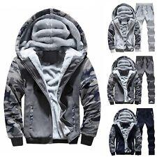2Pcs Men's Winter Tracksuit Hoodies Sweatshirts Jacket + Pants Set Sport Wear AU