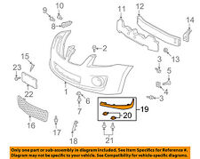 Pontiac GM OEM Vibe Front Bumper Grille Grill-Lower Extension Left 88975665