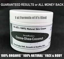 DermaWonder DRY SKIN CREAM 100%NATURAL Face/Body Butter Eczema Chapped Skin 2 oz
