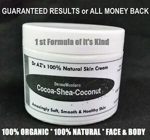 DermaWonder DRY SKIN CREAM 100% NATURAL Face/Body Butter Eczema Chapped Skin 4oz