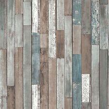 BHF FD40888 Distinctive 4 Wood Reclaim Wallpaper - Blue 2-piece