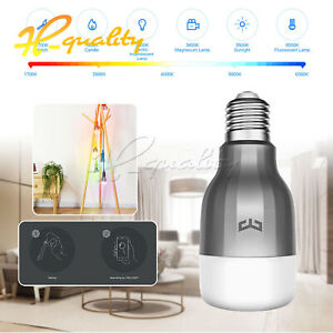 For Yeelight E27 Bulb APP Wireless WiFi LED Light Dimmable 9W RGB Home