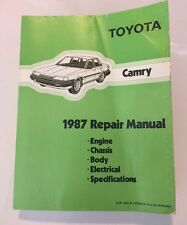 Toyota Camry 1987 Repair Manual- Engine Chassis Body Electrical Specifications.