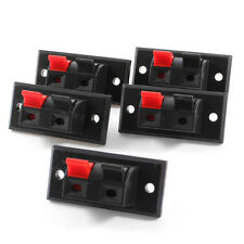 New 2 Positions Connector Terminal Push in Jack Load Audio Speaker Terminals