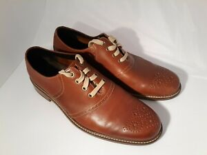 Cole Haan C09790 Williams Leather Saddle 4-Eye Casual Dress Oxfords Mens US 11.5