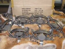 6 Duke #3 offset Coil Spring Traps  Beaver Fox Bobcat Coyote Wolf Trap NEW SALE